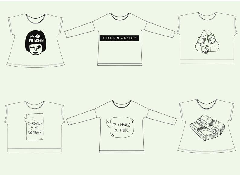 Illustration de Coline pour les t-shirts