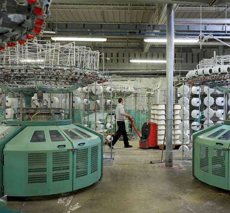 matière de la manufacture du textile