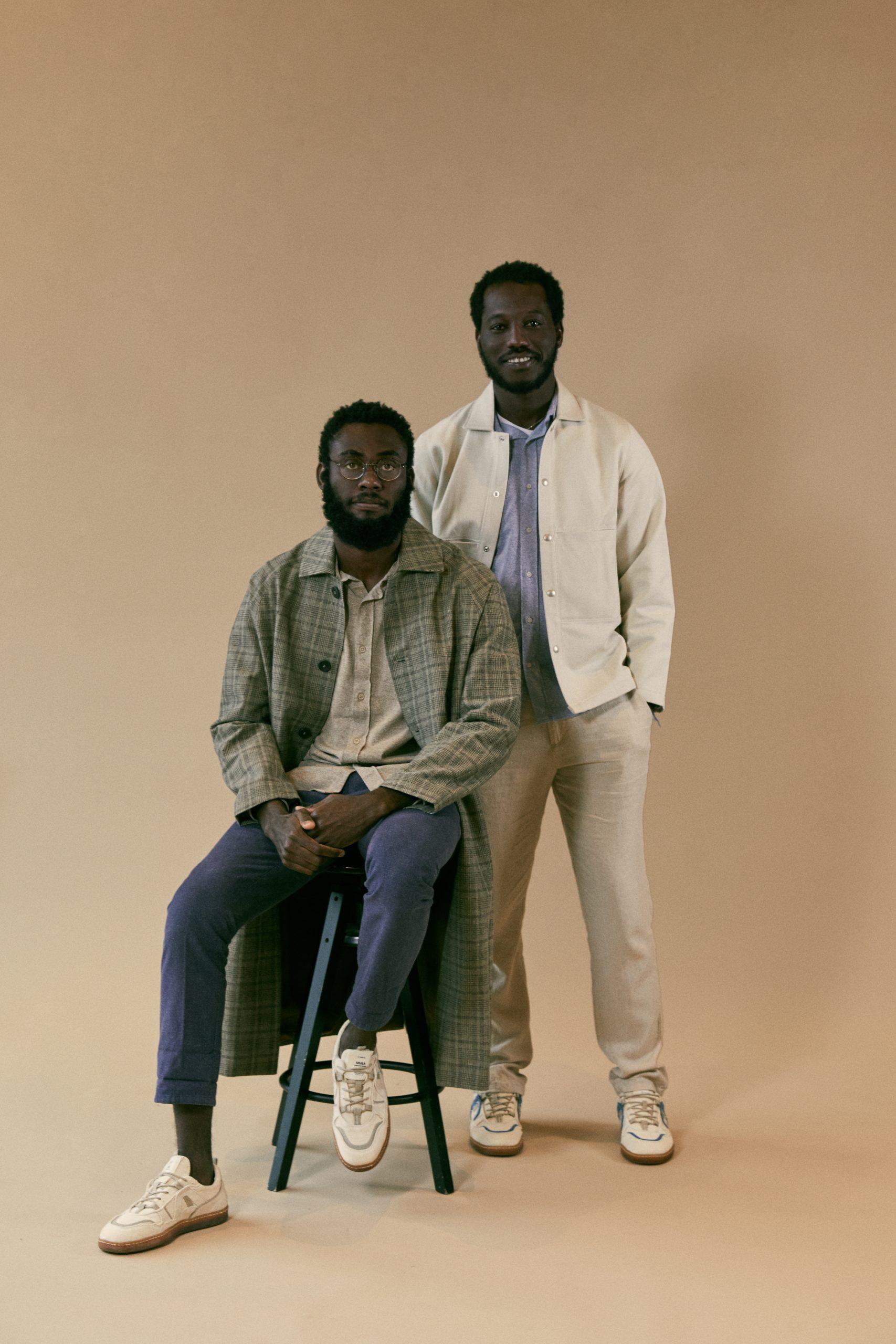 Umoja Shoes, Lancine et Dieuveil, fondateurs - Studio ©Charlain