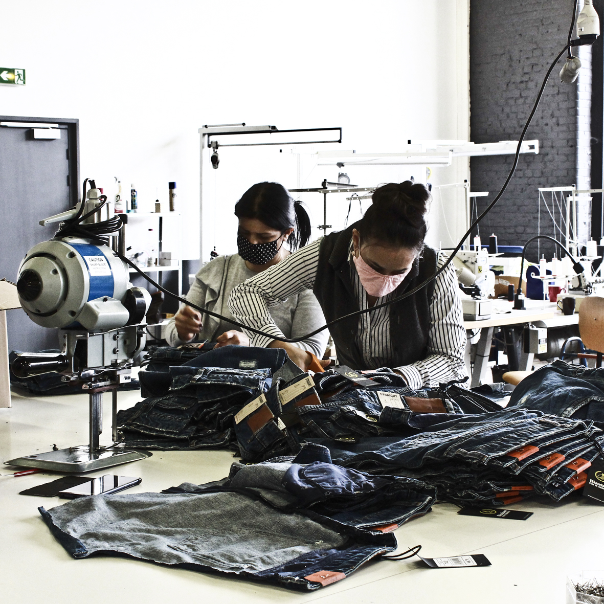 FAB Upcycling jeans couturière